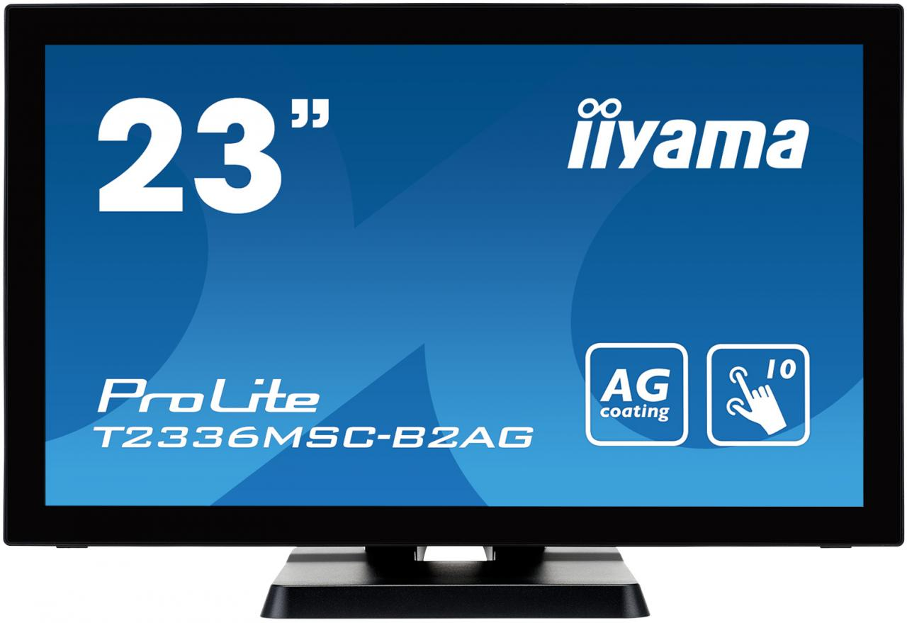 "IIYAMA 23"" LCD iiyama T2336MSC-B2AG - multidotekový, FullHD, IPS, kapacitní, USB, antilesklý (T2336MSC-B2AG)"