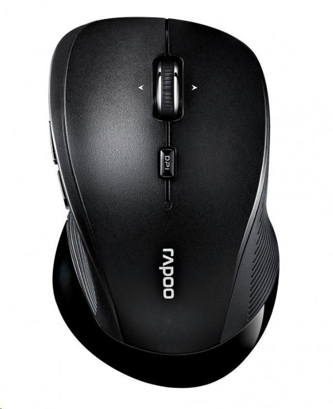 Rapoo myš 3910, laserová, bezdrátová, černá (6940056169891)