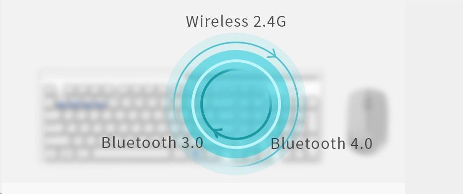 Rapoo myš 7200M Multi-mode bezdrátová, šedá (6940056180414)