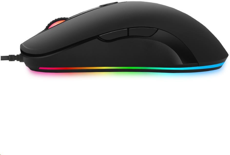 Spire ABKONCORE Herní myš A530 3325, optická, USB, RGB, černá (ABKO-MOUSE-A530-3325)