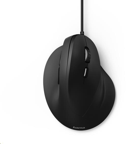 Hama vertikálna, ergonomická káblová myš EMC-500, 6 tlačidiel, čierna (182698)
