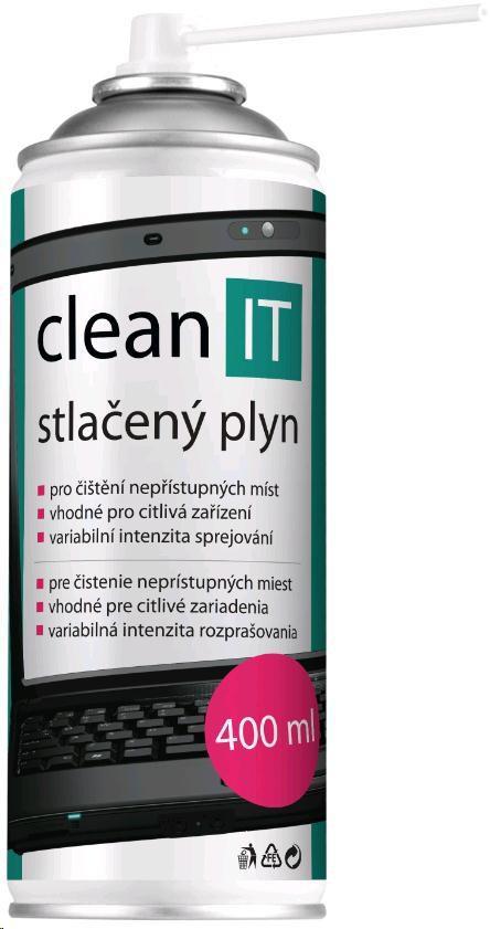 Clean IT Stlačený vzduch 400ml (náhrada za CL-1) (CL-102)
