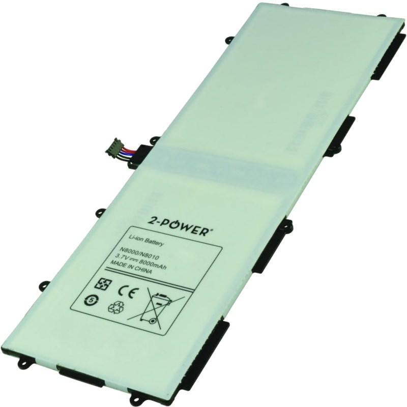 2-POWER Baterie 3,7V 8000mAh pro Samsung Galaxy Note 10.1 (GT-N8000), Galaxy Tab 10.1 (GT-P7500) (77031003)