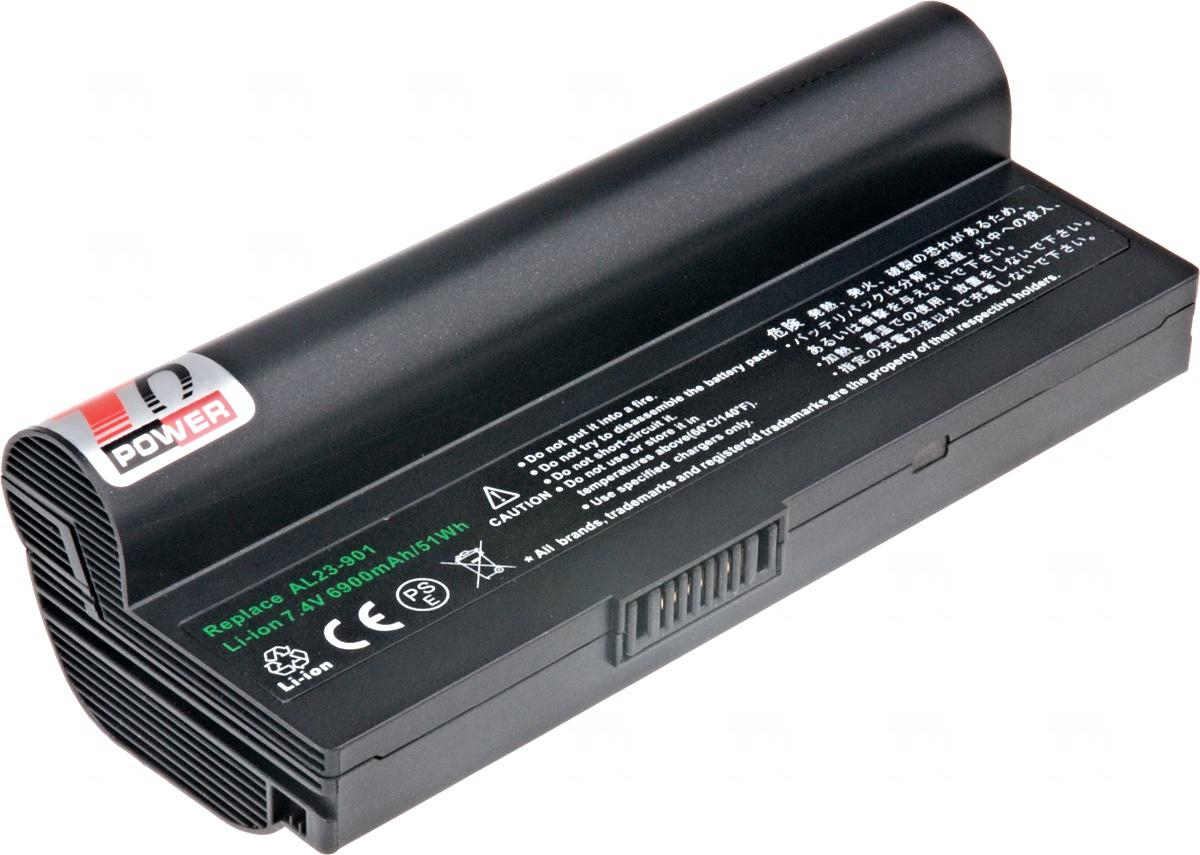 T6 POWER Baterie T6 power Asus Eee PC 1000H, 904H, 6600mAh, 49Wh, 6cell, black (NBAS0053)