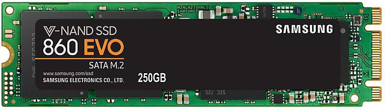 SAMSUNG SSD 250GB Samsung 860 EVO M.2 SATA III (MZ-N6E250BW)