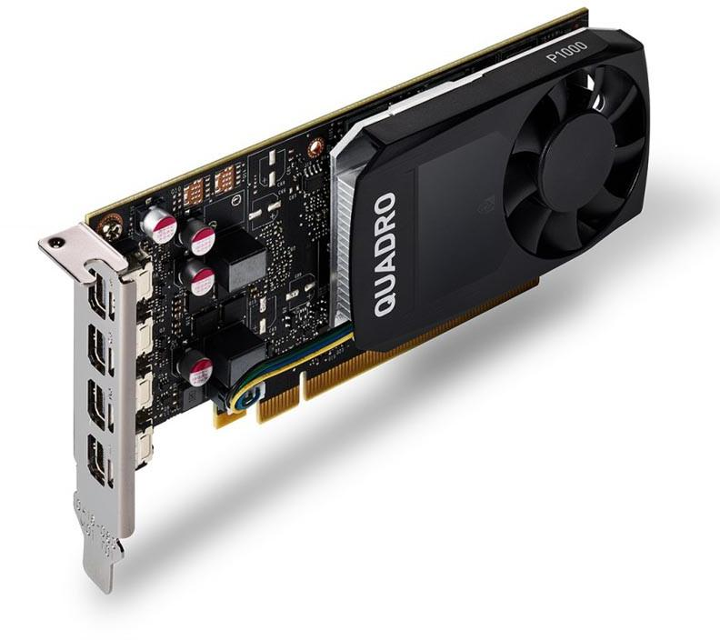 HP NVIDIA Quadro P1000 4GB Kit w/2 Adapters (1ME01AA)