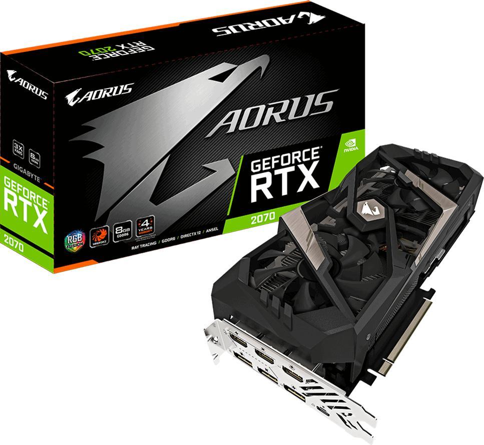 GIGABYTE AORUS GeForce RTX 2070 8G (GV-N2070AORUS-8GC)