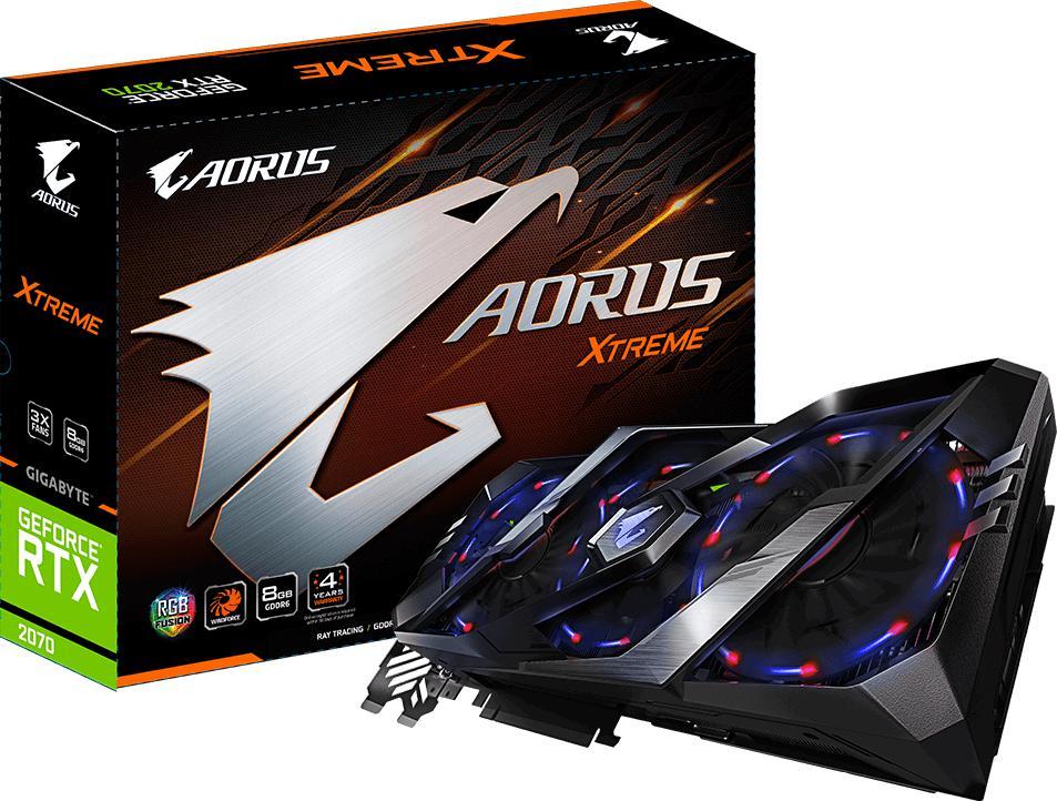 GIGABYTE AORUS GeForce RTX 2070 XTREME 8G (GV-N2070AORUSX-8GC)