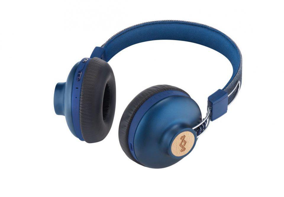 MARLEY Positive Vibration 2.0 Bluetooth - Denim, bezdrátová sluchátka přes hlavu (EM-JH133-DN)