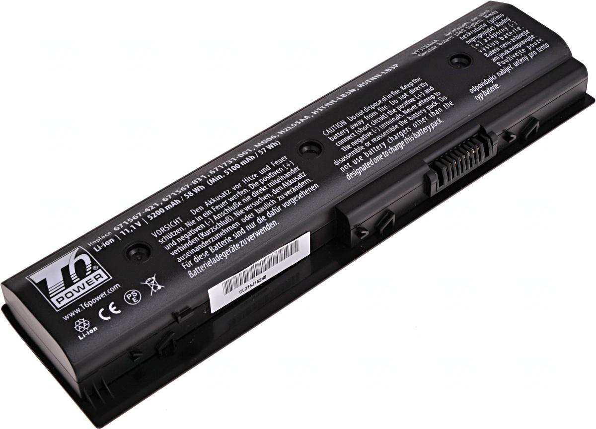 T6 POWER Baterie T6 power HP Pavilion dv4-5000, dv6-7000, dv7-7000, m6-1000 serie, 6cell, 5200mAh (NBHP0087)