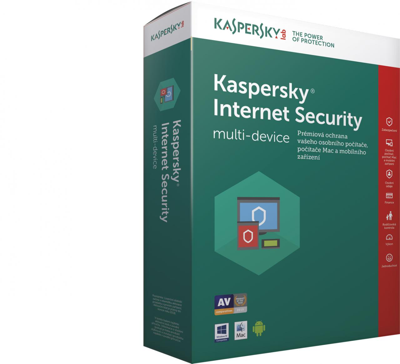 KASPERSKY Internet Security 1x 1 rok Nová BOX (KL1941X5AFS-8MSBCEE)