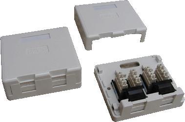 DATACOM UTP 2xRJ45 zásuvka CAT6 na omítku (protiprachová) (2336)