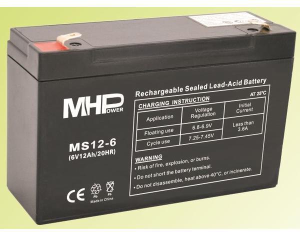CARSPA Pb akumulátor MHPower VRLA AGM 6V/12Ah (MS12-6) (MS12-6)