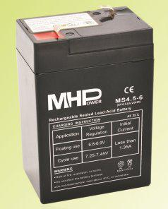 CARSPA Pb akumulátor MHPower VRLA AGM 6V/4,5Ah (MS4.5-6) (MS4.5-6)