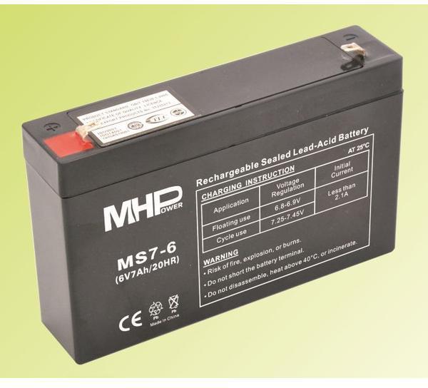 CARSPA Pb akumulátor MHPower VRLA AGM 6V/7Ah (MS7-6) (MS7-6)