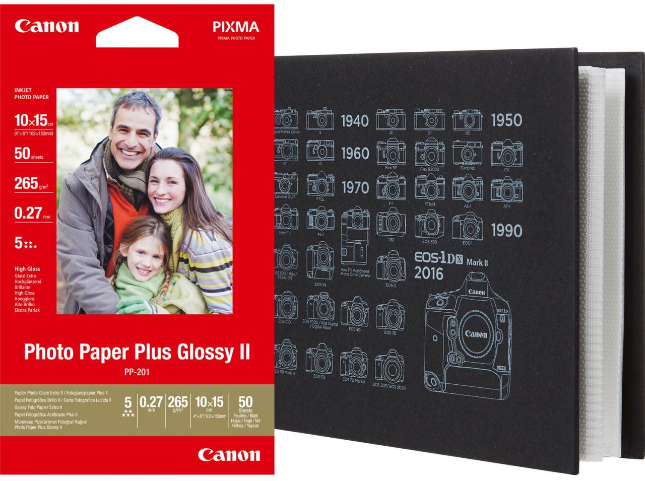CANON fotopapír PLUS(PP-201)50s+fotoalbum(36phot.) (2311B069)