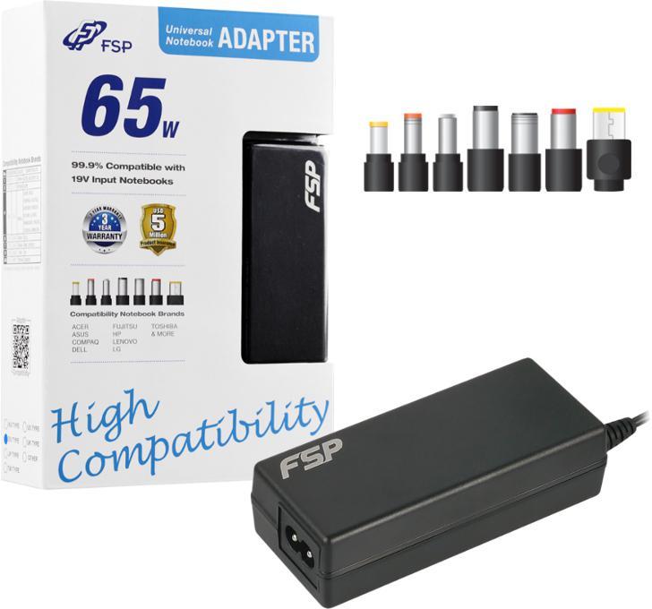 FORTRON/FSP FSP/Fortron NB 65 CEC napájecí adaptér k notebooku, 65W, 19V (PNA0651904)