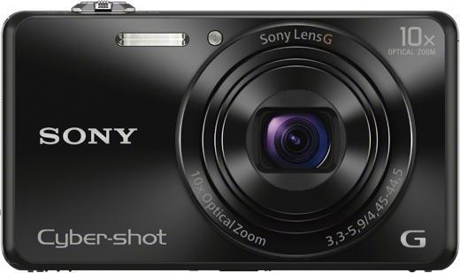 SONY DSC-WX220 černá,18,2Mpix,10xOZ,fullHD,WiFi (DSCWX220B.CE3)
