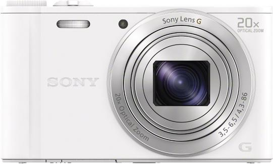 SONY DSC-WX350 bílá, 18,2Mpix,20xOZ,fullHD,WiFi (DSCWX350W.CE3)