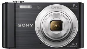 SONY Cyber-Shot DSC-W810 černý,20,1M,6xOZ,720p (DSCW810B.CE3)