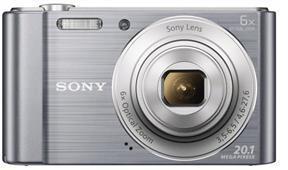SONY Cyber-Shot DSC-W810 stříbrný,20,1M,6xOZ,720p (DSCW810S.CE3)