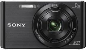 SONY Cyber-Shot DSC-W830 černý,20,1M,8xOZ,720p (DSCW830B.CE3)