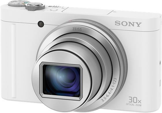 SONY DSC-WX500 bílá,18,2Mpix,30xOZ,fullHD,WiFi (DSCWX500W.CE3)
