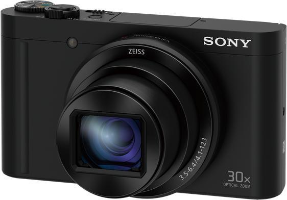SONY DSC-WX500 černá,18,2Mpix,30xOZ,fullHD,WiFi (DSCWX500B.CE3)
