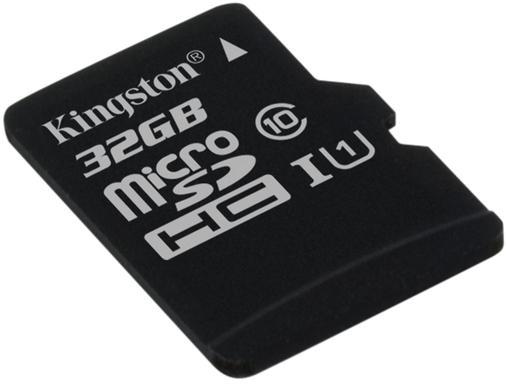 Fotografie KINGSTON 32GB microSDHC Kingston CL10 UHS-I 80R bez adap. (SDCS/32GBSP)
