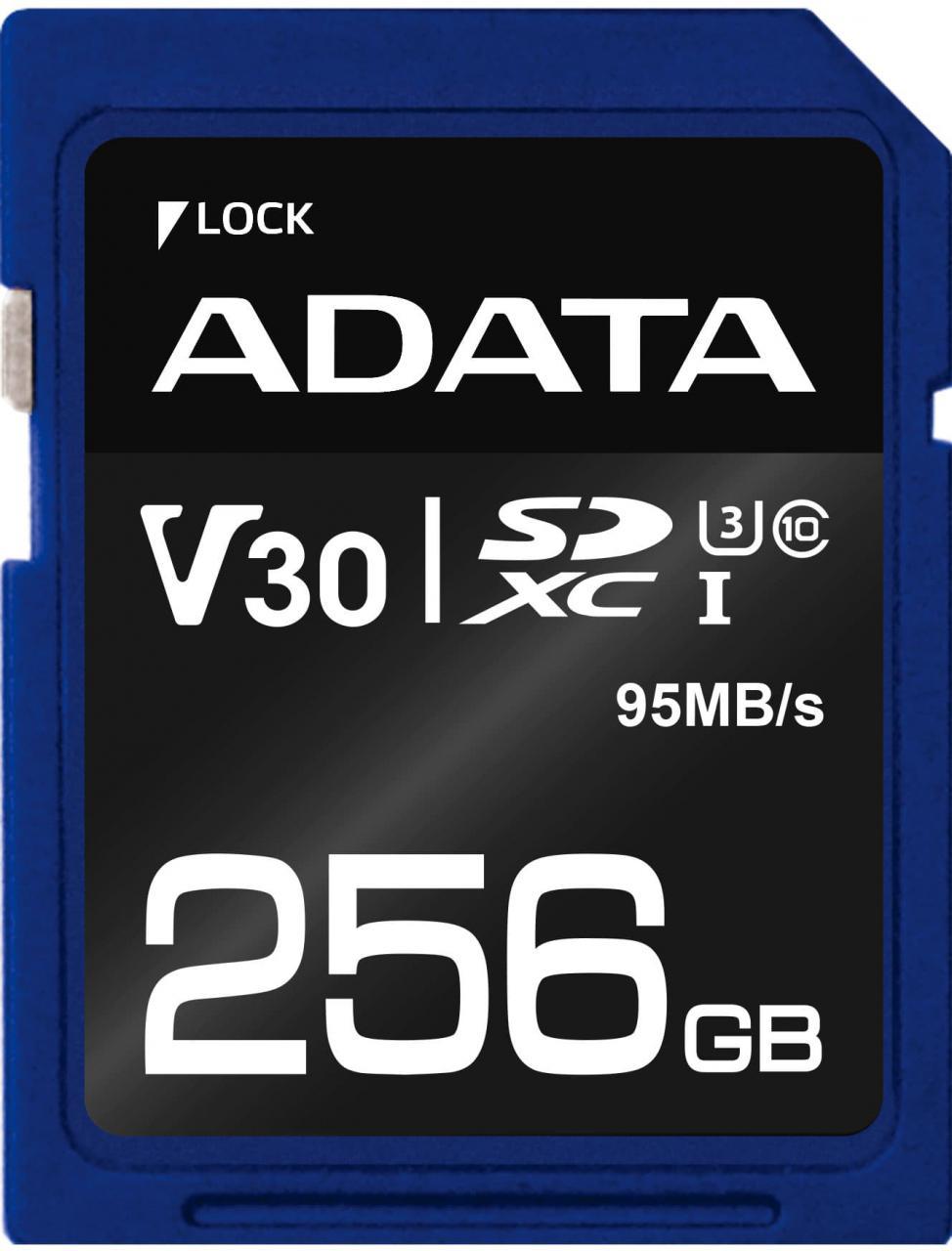 Fotografie ADATA Premier Pro SDXC 256GB UHS-I U3 (95R/60W) (ASDX256GUI3V30S-R)