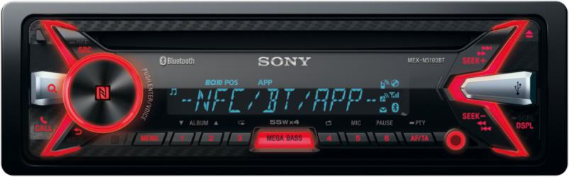SONY autorádio MEX-N5100BT CD/MP3,USB/AUX, NFC/BT (MEXN5100BT.EUR)