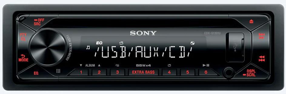 SONY autorádio s CD CDX-G1301, AUX, USB (CDXG1301U.EUR)
