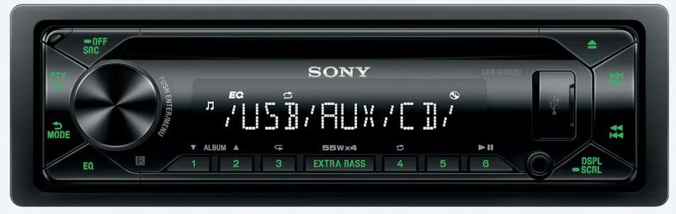 SONY autorádio s CD CDX-G1302, AUX, USB (CDXG1302U.EUR)