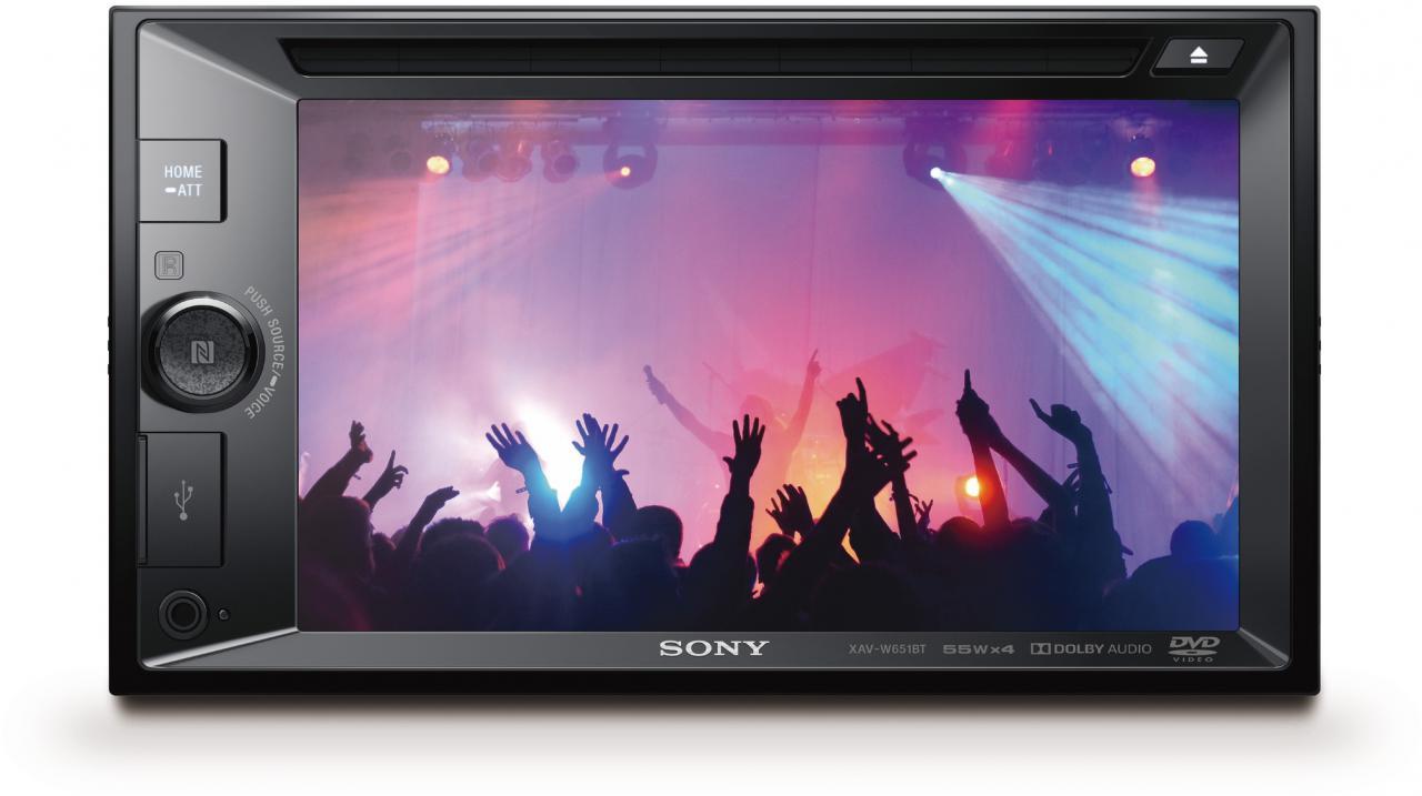SONY autorádio XAV-651BT dot.display BT/NFC,CD/DVD (XAVW651BT.EUR)