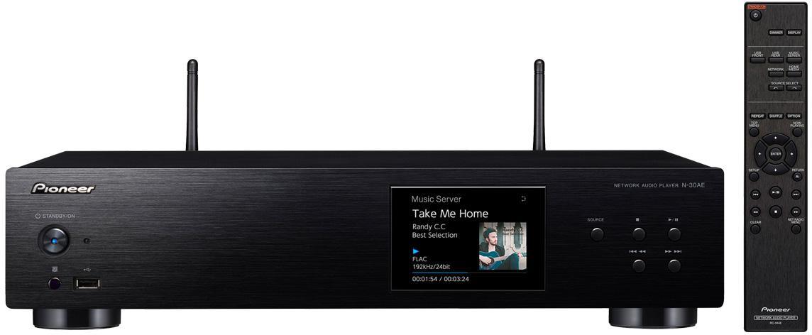 PIONEER síťový Hi-Res audio přehrávač černý (N-30AE-B)