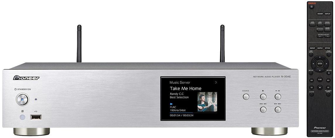PIONEER síťový Hi-Res audio přehrávač stříbrný (N-30AE-S)
