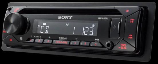 SONY autorádio s CD CDX-G1300, AUX, USB (CDXG1300U.EUR)