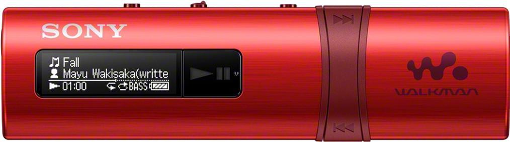 SONY MP3 přehrávač 4GB NWZ-B183F, FM rádio,červený (NWZB183FR.CEW)