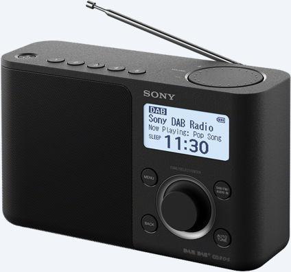 SONY rádio XDRS61DB.EU8 přenosné, černé (XDRS61DB.EU8)