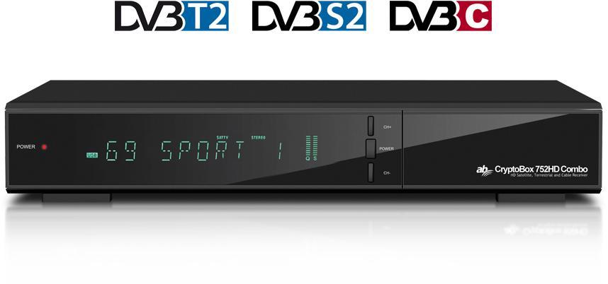 AB COM AB Cryptobox 752HD Combo DVB-T2/S2/C (AB CR752HD)