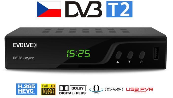 EVOLVEO Omega T2, HD DVB-T2 H.265/HEVC rekordér (DT-3060-T2-HEVC)