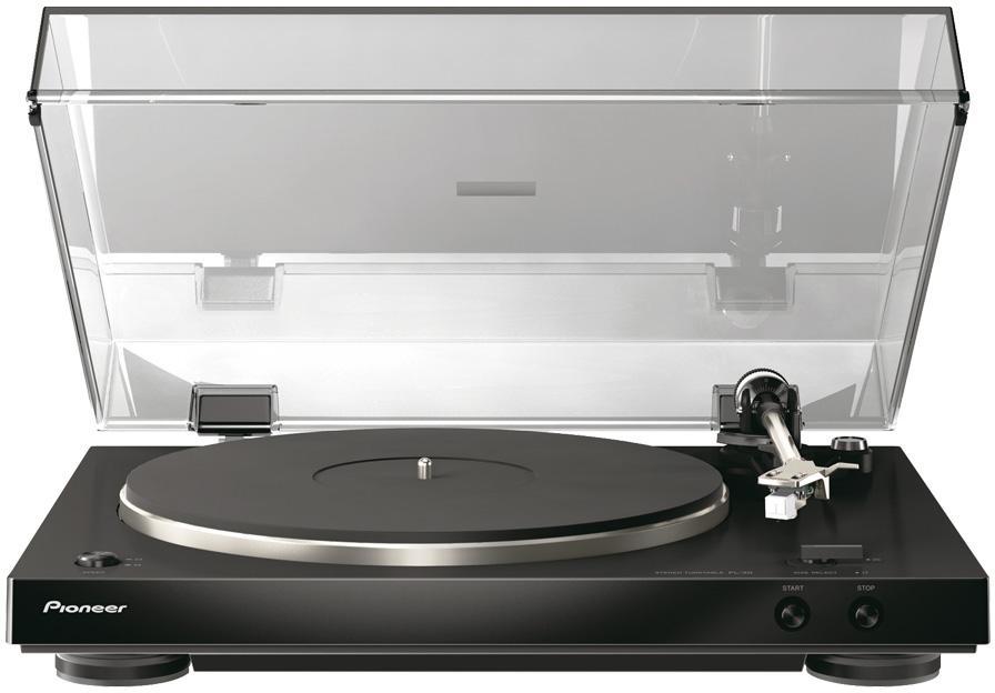 PIONEER gramofon s pevným šasi černý (PL-30-K)