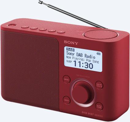 SONY rádio XDRS61DR.EU8 přenosné, červená (XDRS61DR.EU8)