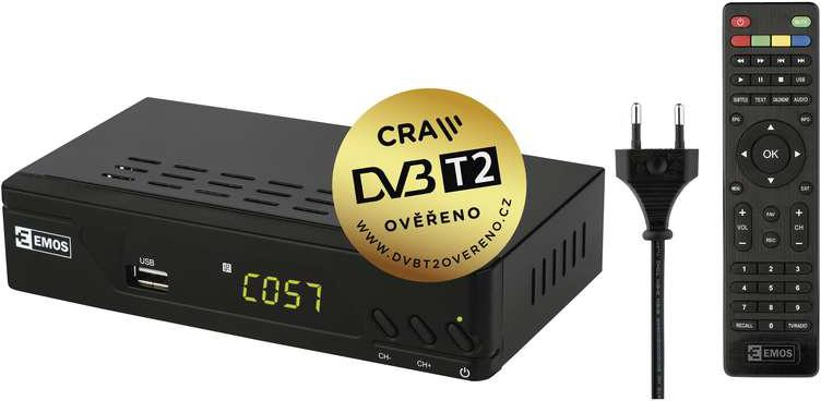 EMOS FULL HD DVB-T2 PŘIJÍMAČ EM-170 (2520236000)