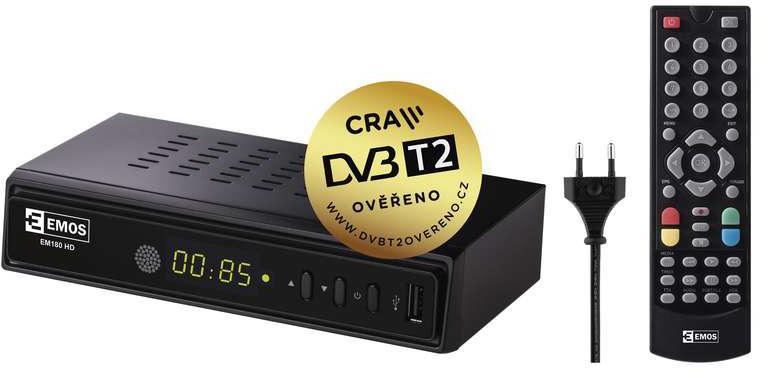 EMOS FULL HD DVB-T2 PŘIJÍMAČ EM-180 (2520236200)