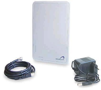 AB COM Aktivní DVB-T a DAB anténa DA 1200 + adaptér (T ANT DA 1200)