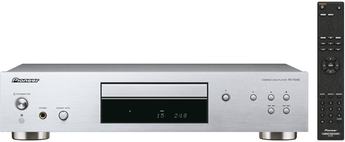PIONEER audio CD přehrávač, výstup pro sluchátka stříbrný (PD-30AE-S)