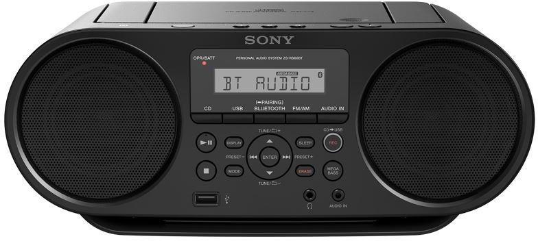 SONY mp3/CD přehrávač ZS-RS60BT NFC/BT,černý (ZSRS60BT.CET)