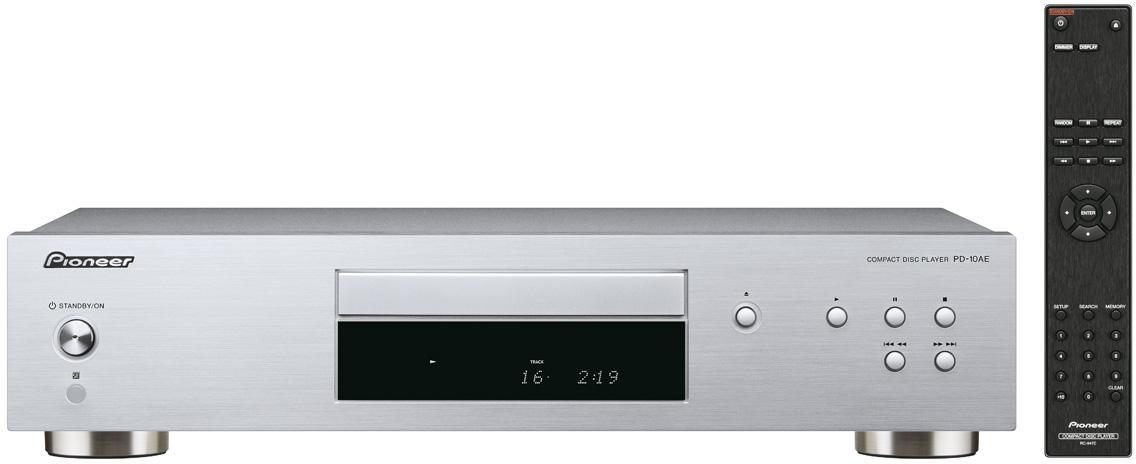 PIONEER audio CD přehrávač stříbrný (PD-10AE-S)