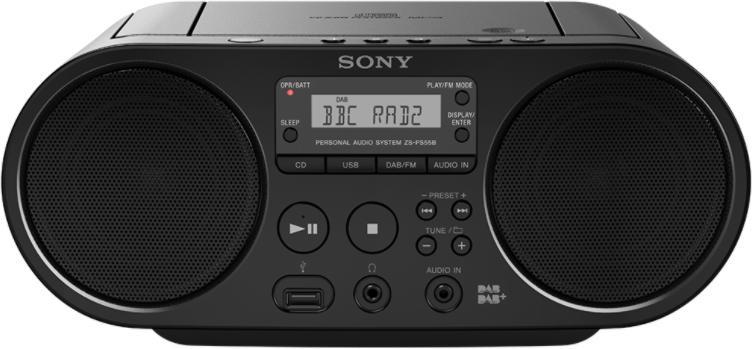 SONY mp3/CD/Radio přehrávač ZS-PS50CP,černý (ZSPS50B.CET)